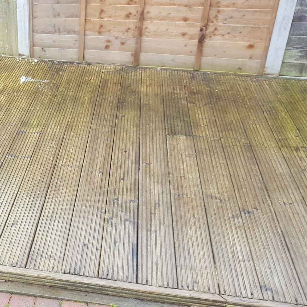 Decking Cleaning Before