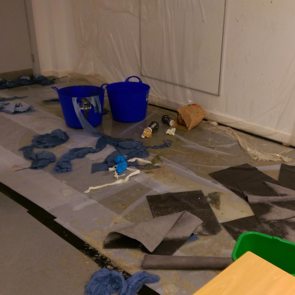 how to clean up sewage in basement