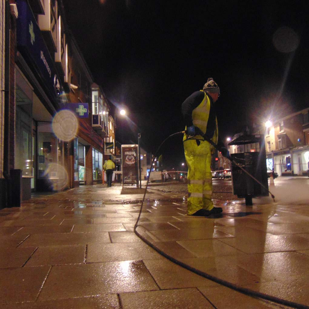 Pressure Washing Newport High Street